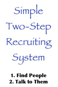 Simple, two-step recruiting system